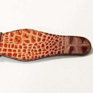 Printed vegan leather buckle