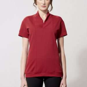 Triacetate V-neck t-shirt