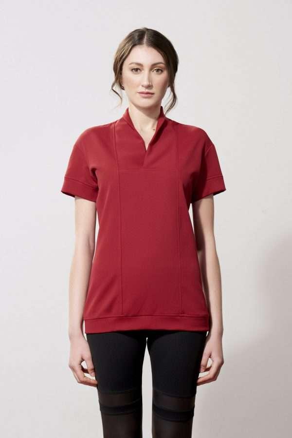 Triacetate V-neck t-shirt