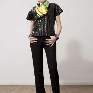 Wool pants, Swarovski cristals details
