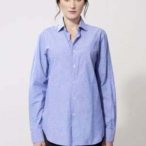 Linen and cotton long sleeves shirt
