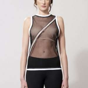 Knitted tank top, cotton details