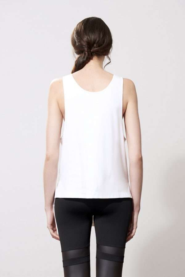 Cotton tank top, pockets, printed details